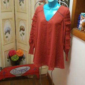 Red Carter blouse